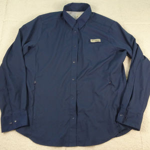 Columbia PFG Wicked Vented Black Shirt Large